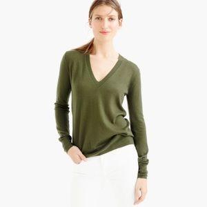 J. Crew 100% Merino Wool V-Neck Sweater